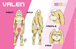 Valen Ref Sheet by LoopyWolf