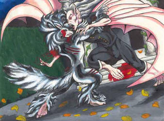 Loopy vs Dracula by LoopyWolf