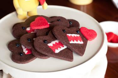 Domo Heart Cookies by firekitty29