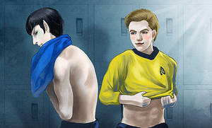 Star Trek- Kirk and Spock in Changing Room by dosruby