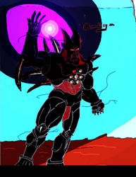 Omega Shenron, Dark Shockwave by qar