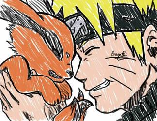 Naruto X Kurama by paggi93