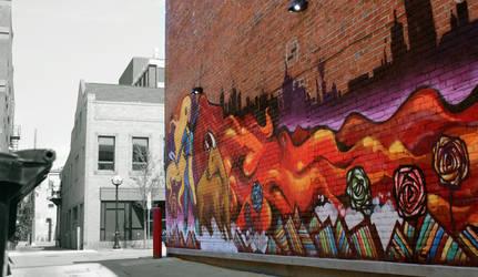 Ann Arbor 8 - Mural by AaronMk