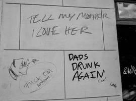 Graffiti's drunk again by AaronMk