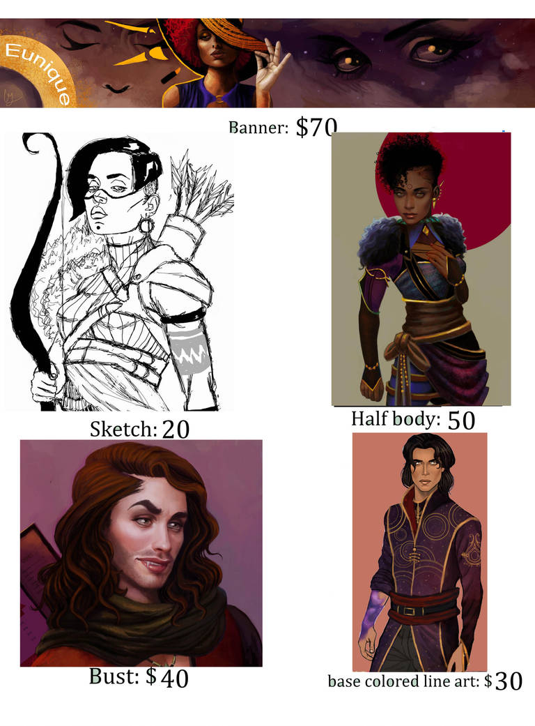Commission Price Chart by ChelseaGeter