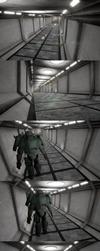 Scifi Hallway by kasigawa