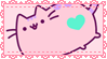 .~Pink Pusheen stamp~. by ThePinkMarioPrincess