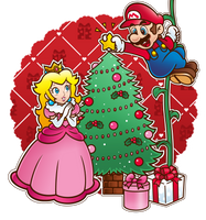.~Come and see, the Christmas tree!~. by ThePinkMarioPrincess