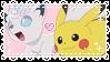 .~Pikachu x Snowy stamp~. by ThePinkMarioPrincess