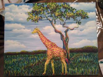 Giraffe and Landscape by monana349