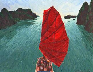 Big Red Sail by monana349
