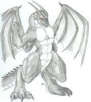 Anthro Dragon Dracan by Xroynedracenihfern