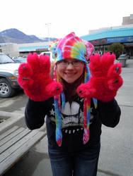 pink paw gloves acid squid by Rayzerwolf
