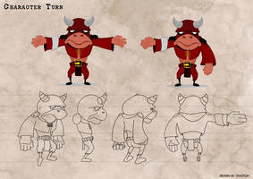character turn for 3D modeling by chatton