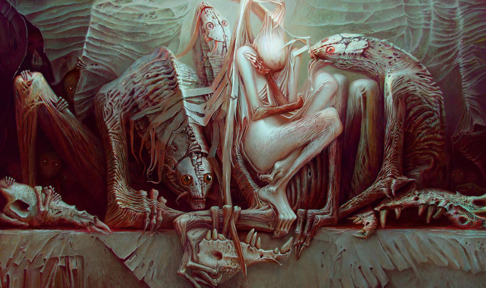The fallen angel and the three guardian by kumpan