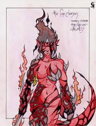 The fire demon by ShadowJonh
