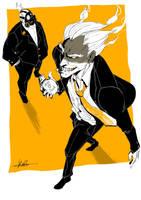 Junkrat and Roadhog by oke0301