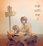 ...ride with me ? by JigokuNeko