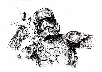 Sabered Trooper by VamkireTrannel
