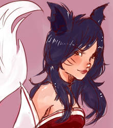 Ahri sketch by Roocio-san