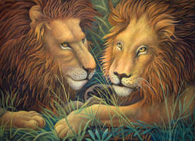 Lions by CalciteMink1610