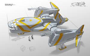 AirGunship Concept by songofelf