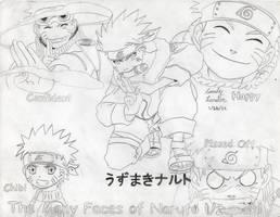 The Many Faces of Naruto Uzumaki by Dragonfly224