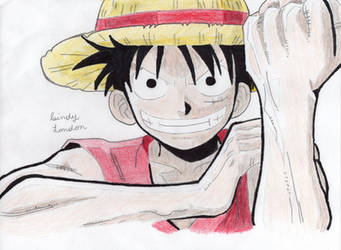 Monkey D. Luffy: THANKS FOR 300 SUBS YOUTUBE by Dragonfly224