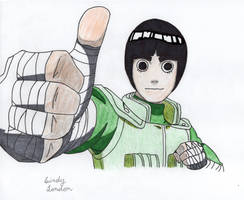 Rock Lee Thumbs Up by Dragonfly224