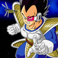 Vegeta (Scouter) Google+ Icon [Dragonfly] by Dragonfly224