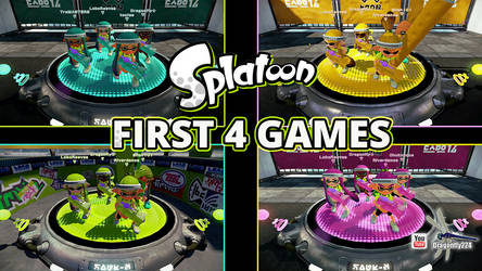 Splatoon FIRST 4 GAMES THUMBNAIL by Dragonfly224