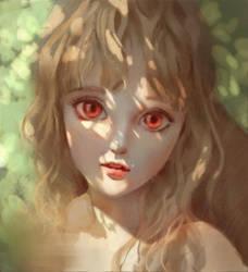 portrait practice-Sunshune girl by Weichenstudio