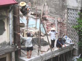 Construction in Hanoi by oddno1ishere