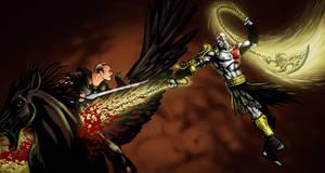Kratos vs Perseus by FedericoNovelo