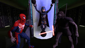 Spider-man needs to save Lucina from Kylo Ren by kongzillarex619