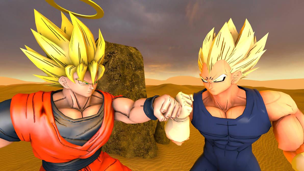 Goku Vs Majin Vegeta By Kongzillarex619 On Deviantart