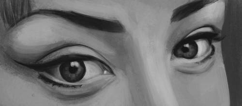 Eyes Painting 2 by Russtiel