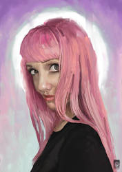Lyz Brickley Painted on Corel painter by Russtiel