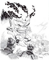Modok vs Terracotta warriors by TomRaney