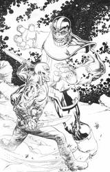 Thanos vs Drax! by TomRaney