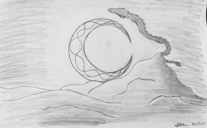 Inktober #17: Dragon of Night by fangcross666