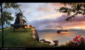Le moulin 'De Delphinia' by slempens