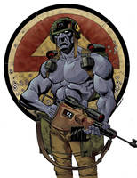 Rogue Trooper by stevendenton