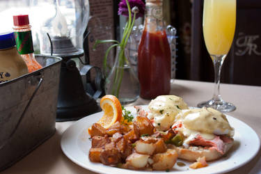 Smoked Salmon Eggs Benedict by squarebottle