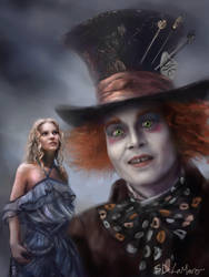 Burton's Alice in Wonderland by SteveDeLaMare