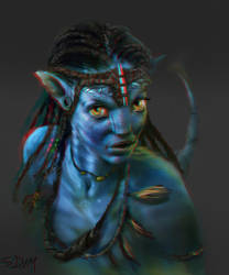 Neytiri Painting now in 3D by SteveDeLaMare