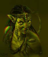 neytiri RED GREEN 3D version by SteveDeLaMare