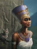 Nefertiti. A Royal Portrait by SteveDeLaMare