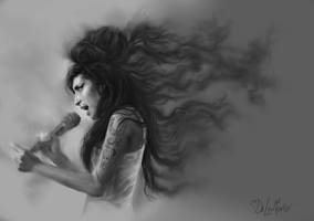Amy Winehouse by SteveDeLaMare