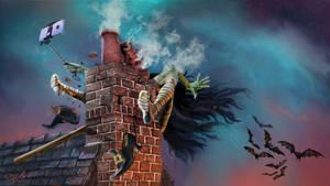 Halloween - Fly Safe by SteveDeLaMare
